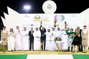 Auge steers Al Shamoos to victory in world's richest race for Purebred Arabian horses