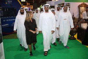 HE Sheikh Mohammed Bin Zayed visits Sheikh Mansoor pavilion At ADIHEX