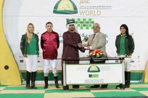 Read more about the article Fourth straight win for Ain Jaloot in Wathba Stud Farm Cup