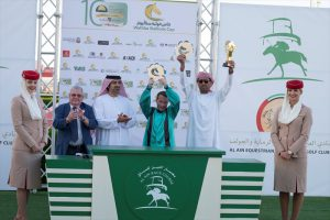 Read more about the article HH Sheikh Mansoor Festival's Ambassador Mullen wins 400th race in UAE.