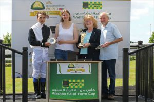 HH Sheikh Mansoor Festival's Wathba Cup races in Hereford, Novice jockey Mallow record double