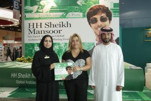Read more about the article HH Sheikh Nahyan launches HH Sheikh Mansoor bin Zayed Al Nahyan Global Arabian Horse Flat Racing Festival Year Book 2013