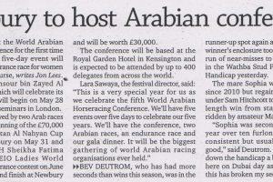 Newbury to host Arabian conference