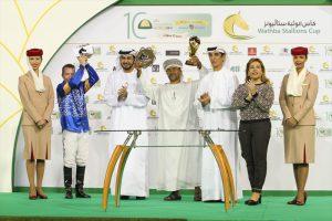 Oman raider BF Mughader scores, Wathba Stallions Cup in Abu Dhabi