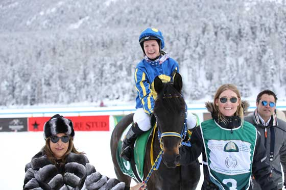 You are currently viewing Wullschleger steers Al Janoob to stunning win in Sheikha Fatima race in St Moritz